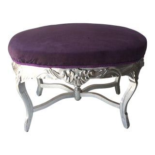 Silver Gilded Wood Ottoman