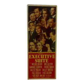 "Vintage ""Executive Suite"" 1954 Movie Poster"