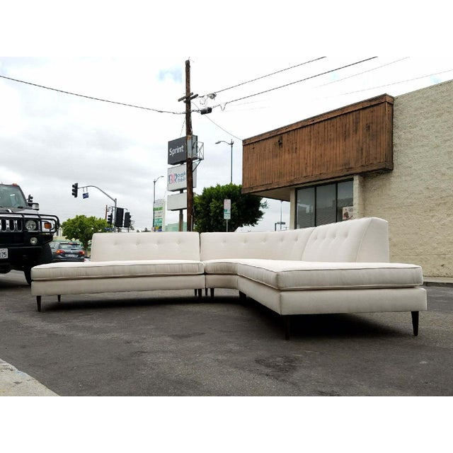 Vintage Oatmeal 3-Piece Sectional - Image 5 of 7