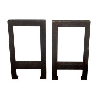 Steel Industrial Table Legs - a Pair
