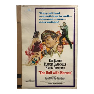 "Universal Picture ""The Hell With Heroes"" Vintage Movie Poster"