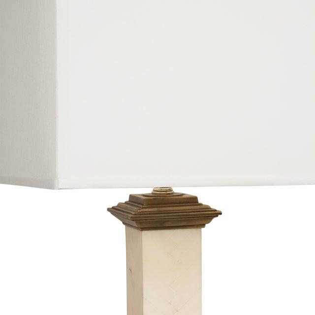 Maitland-Smith Chevron Column Lamps - A Pair - Image 4 of 8