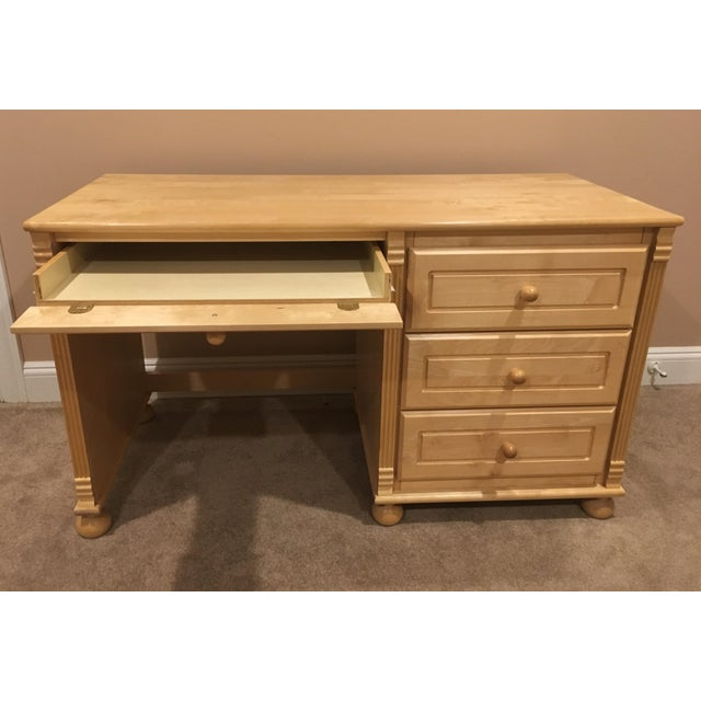 Maple Wood & Birch Desk - Image 3 of 5