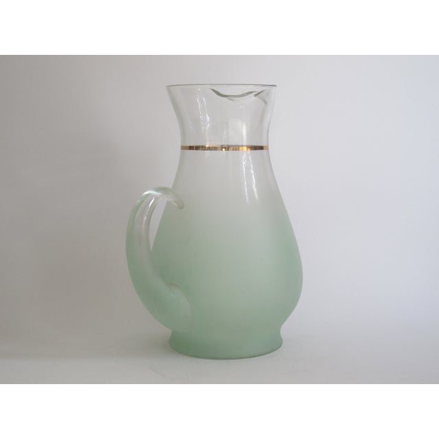 Green Glass Entertaining Pitcher & Glasses - Set of 5 - Image 6 of 6