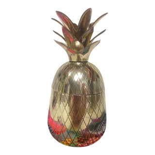 Brass Pineapple Container Jar