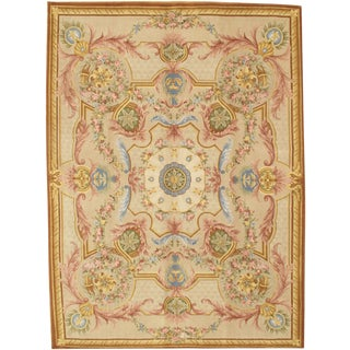 Pasargad N Y Hand Knotted Savonnerie Area Rug - 9' X 12'