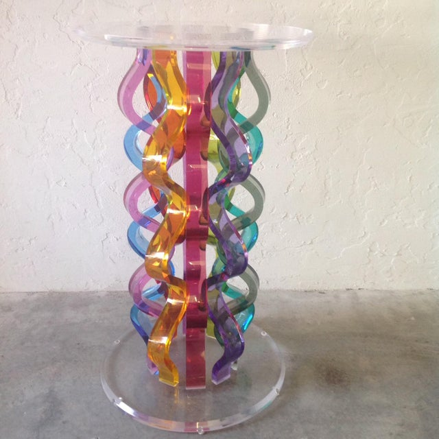 Image of Multi Colored Lucite High Top Table