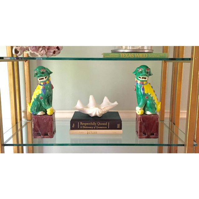 Image of Vintage Chinese Temple Lions - Pair