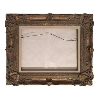 Vintage French Style Carved Gold Wood Frame