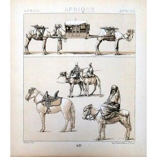 """1888 Le Costume Historique """"Africa"""" Lithograph"""