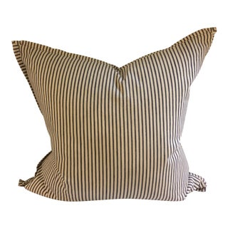 Blue & White Striped Pillow
