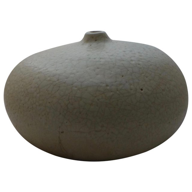Image of Mid-Century Studio Pottery Squash Vase