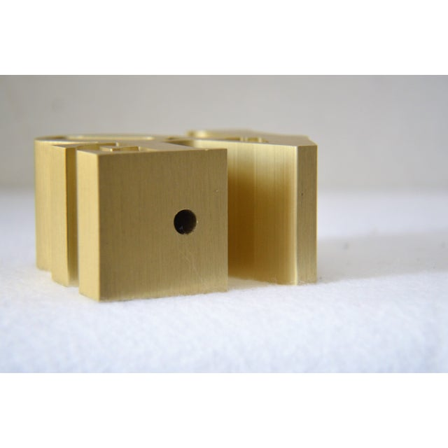 Image of Robert Indiana Love Gold Brushed Aluminum Figure