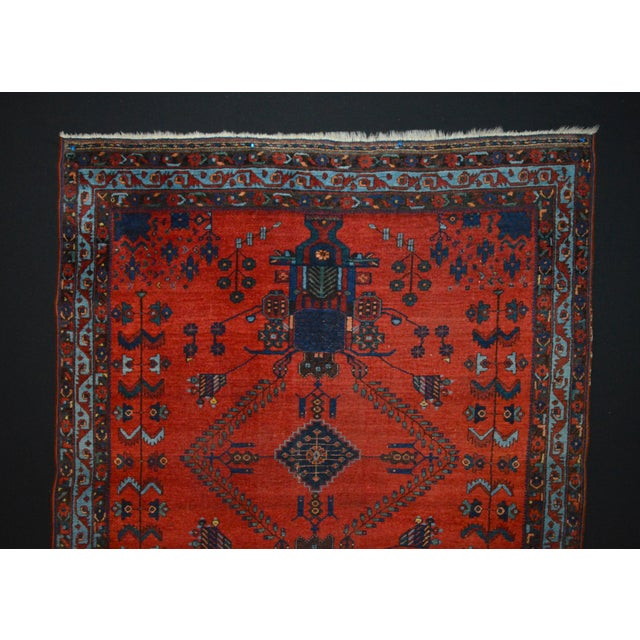 "Antique Persian Afshar Rug - 4'6"" x 5'5"" - Image 3 of 8"
