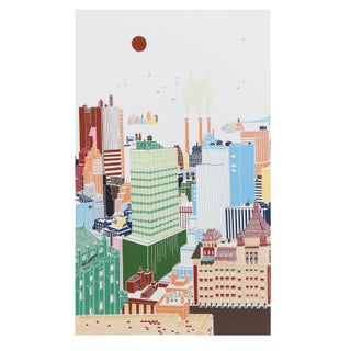 Mori Shizume - New York Skyline 2 Silkscreen