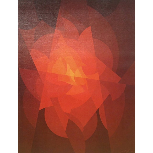 Image of Red & Orange Flowing Abstract Print