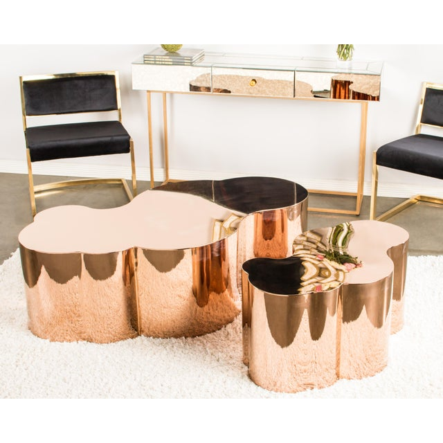 Luca Rose Gold Coffee Table - Image 3 of 5