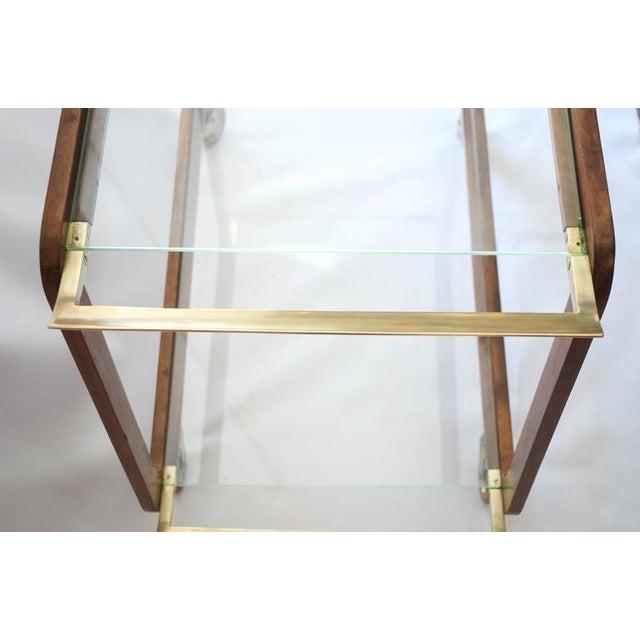Austrian Walnut and Brass Bar Cart - Image 1 of 5