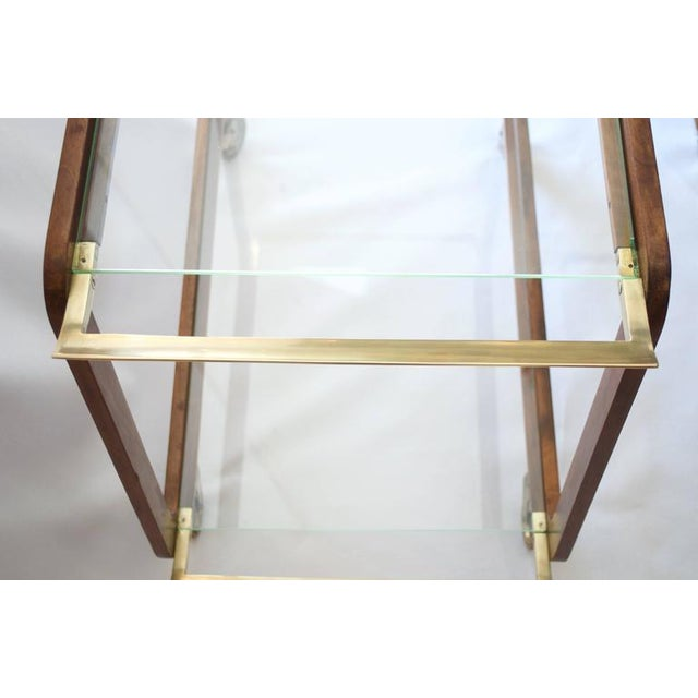 Image of Austrian Walnut and Brass Bar Cart
