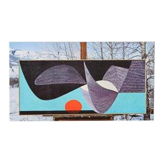 "Herbert Bayer ""Winter Afternoon"" Lithograph c.1965"