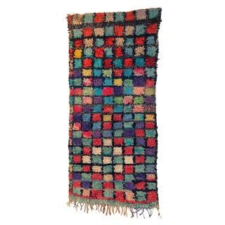 """Vintage Boucherouite Carpet - 3'5"""" X 6'8"""""""