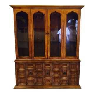 Vintage Glass Door China Cabinet