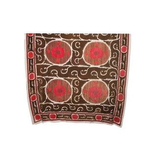 Vintage Red & Brown Suzani Textile
