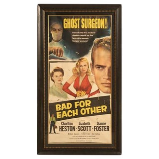Circa 1953 Movie Poster With Charlton Heston
