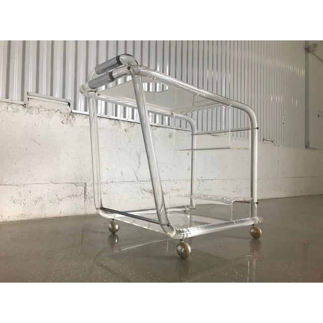 Charles Hollis Jones Mid-Century Modern Lucite Bar Cart - Image 8 of 8