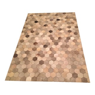 West Elm Cowhide Rug - 5′ × 7′