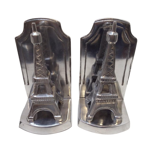 Aluminum Eiffel Tower Bookends - A Pair - Image 1 of 6