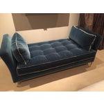Image of Custom Blue Velvet Daybed