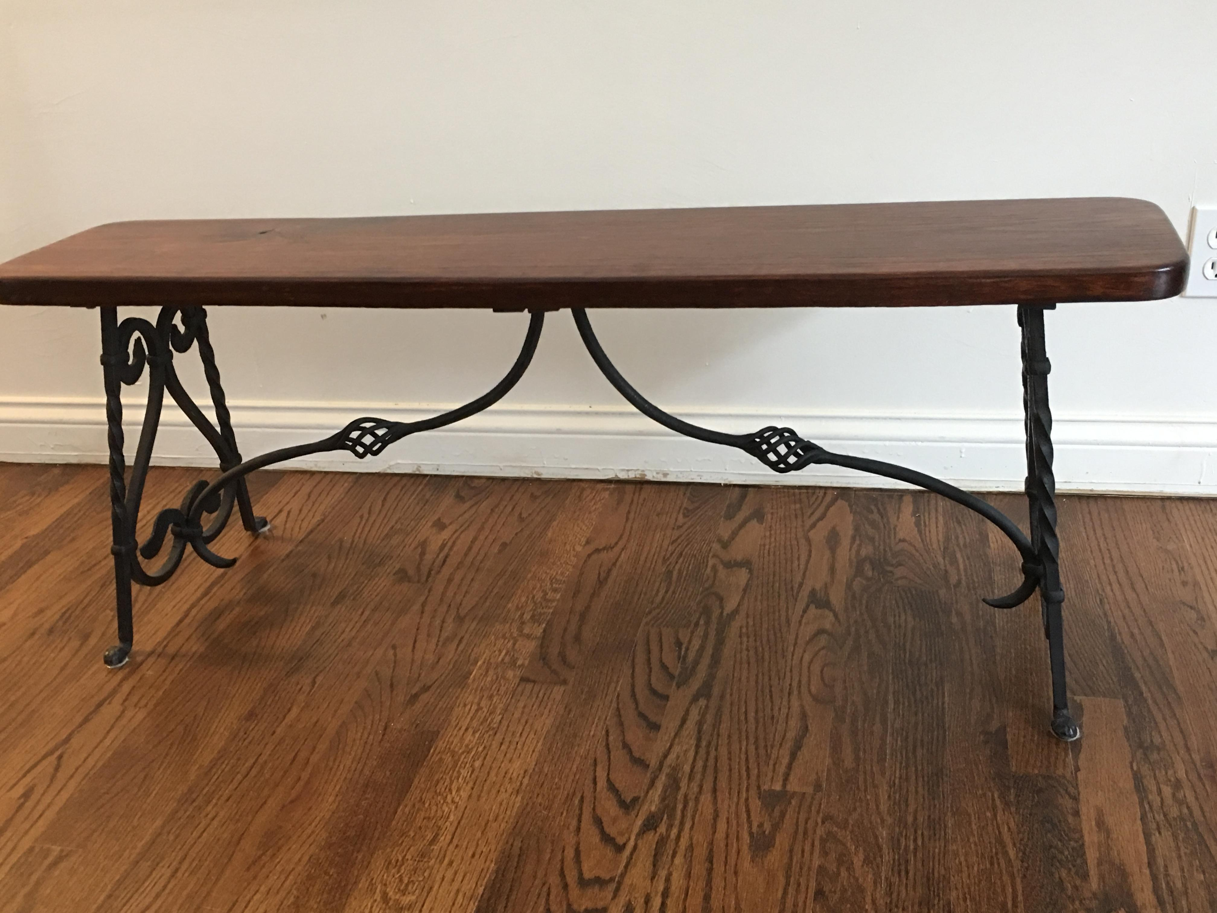 1900 Antique Wrought Iron Dining Table amp Benches Chairish : 2bdee621 cadd 4964 aff1 0e7458262dbcaspectfitampwidth640ampheight640 from www.chairish.com size 640 x 640 jpeg 43kB