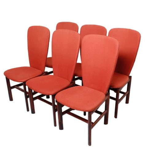 Danish Modern Rosewood 'Heart' Chairs - Set of 6 - Image 1 of 8