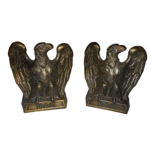Eagle Brass Bookends- a Pair