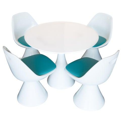 Image of Vintage Hollen Saarinen Tulip Style Dining Set