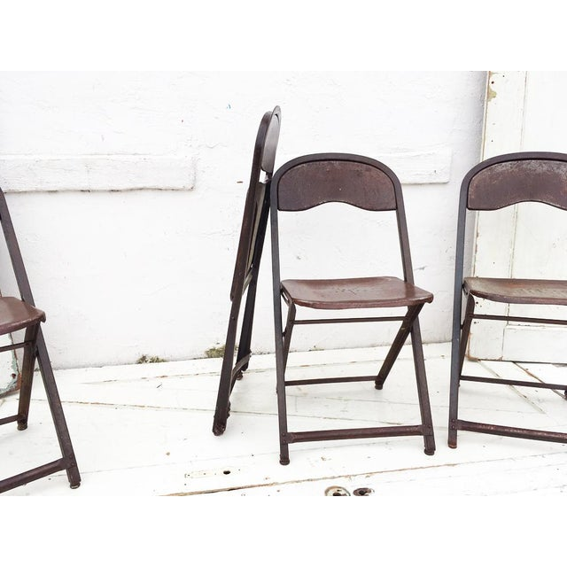 1950's Metal Folding Chairs - Set of 4 - Image 5 of 5