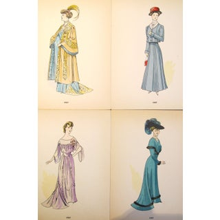 Original 1907 French Fashion Plates - Set of 4