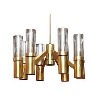 Vintage Brass Sciolari For Lightolier Chandelier