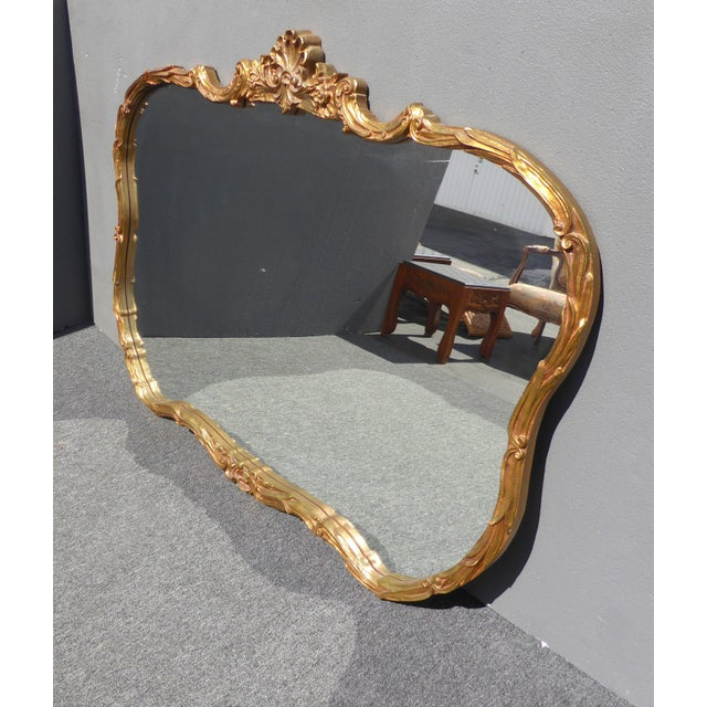 Vintage French Louis XVI Style Wall Mirror - Image 6 of 11