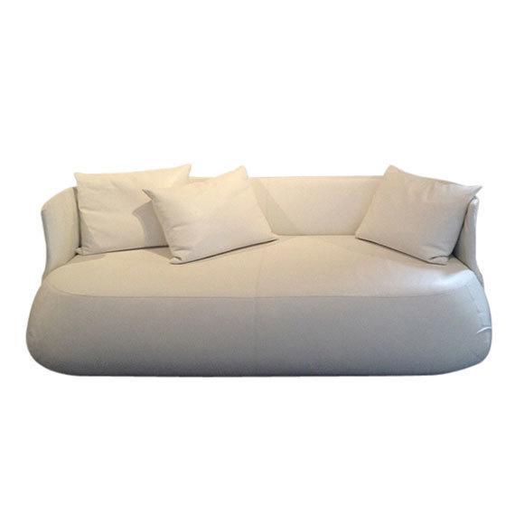 B&B Italia White Leather 'Fat' Sofa - Image 1 of 4