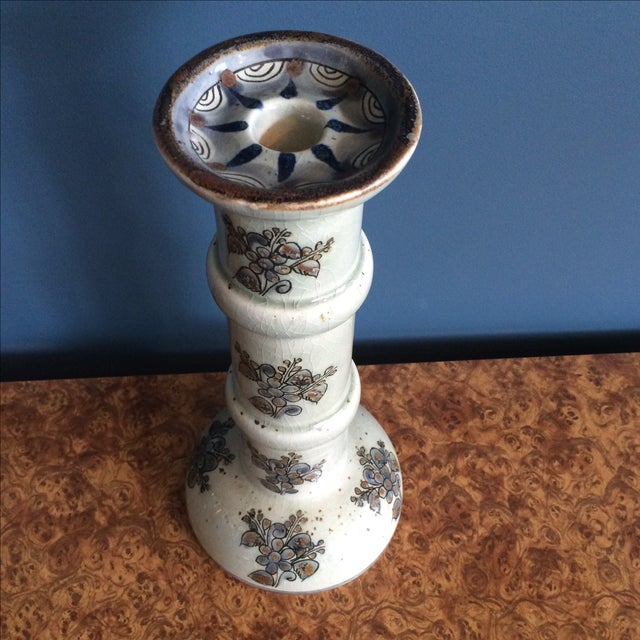 Image of Mexican Hand Painted Candlestick