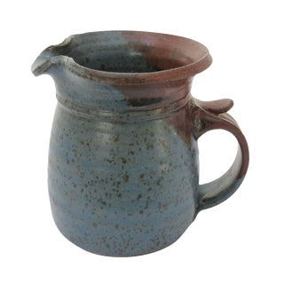 Earthenware Blue Pottery Pitcher