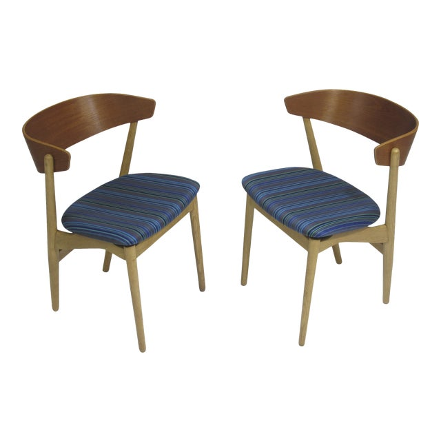 Image of Bramin Teak and Oak Dining Chairs