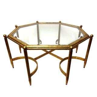 Regency Gold Gilt Glass Top Coffee Table