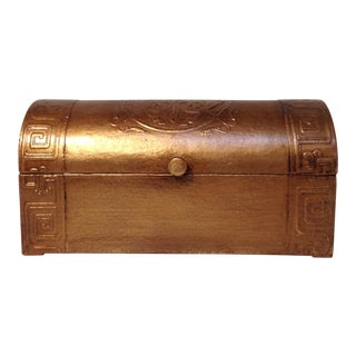 Sarreid Copper Leather Chest