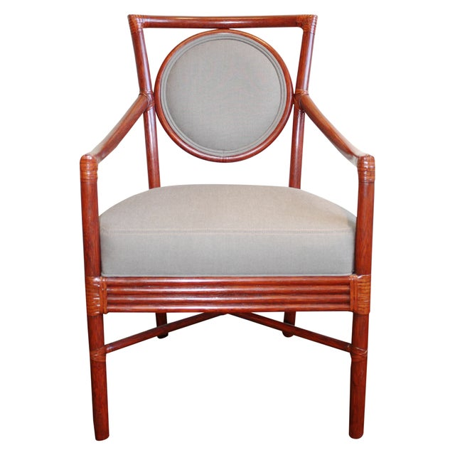 McGuire Orlando Diaz-Azcuy Salon Dining Arm Chair - Image 1 of 8
