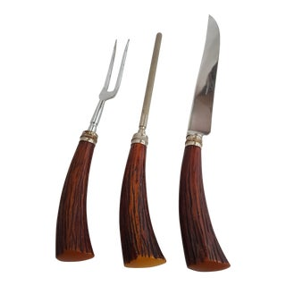 Vintage Carving Set - Set of 3