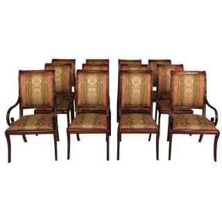 Henredon Regency Mahogany Dining Chairs -Set of 12