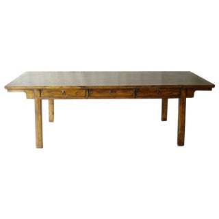 Cantonese 3-Drawer Long Console